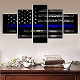 Canvas Wall Art Pictures Modular Home Decor 5 Piezas Bandera Americana Pintura Impreso Cartel