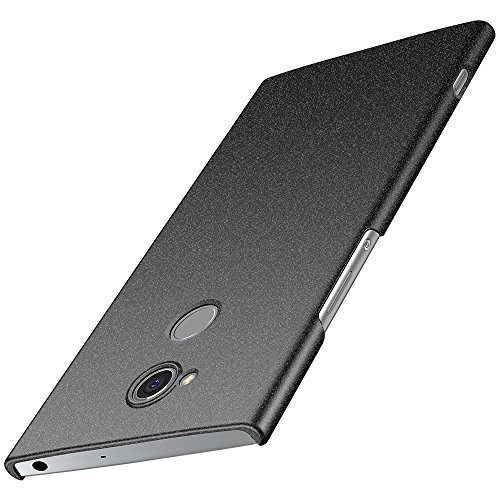 anccer Sony Xperia XA2 Ultra Hülle, [Serie Matte] Elastische Schockabsorption & Ultra Thin Design für Sony Xperia XA2 Ultra (Nicht für Sony Xperia XA2) (Kies Schwarz)