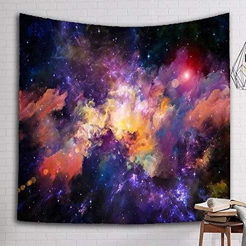 WERT Tapiz de Nebulosa Brillante Tapiz de Pared Tapiz estética Boho decoración decoración del hogar Tela de Fondo A2 150x200cm