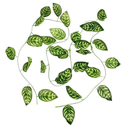Emulational de las hojas de la vid de uva Casa decoración de jardín 2 metros de largo verde