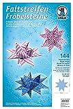 Ursus 16130000 - Faltstreifen Fröbelsterne, 2 x 60 cm, 120 g/qm, 144 Streifen