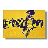Los carteles de la clásica y elegante estrella de baloncesto Kobe Bryant se utilizan para decorar los murales de la habitación, la sala de estar, el pasillo, la sala de deportes, la habitación de l