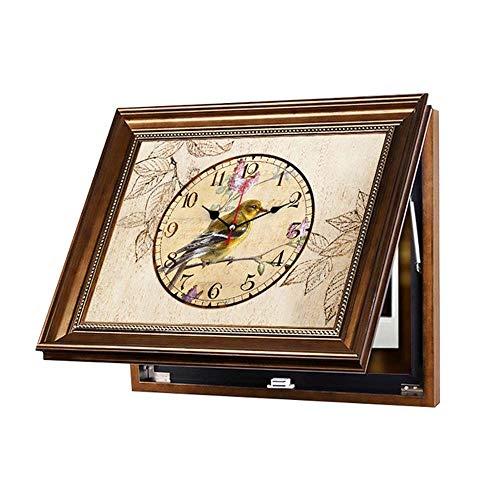 WHSS Cuadro decorativo para sala de estar, estilo nórdico, caja de distribución con marco y reloj (tamaño 60 x 50 cm)
