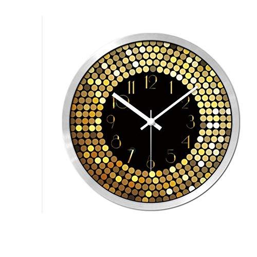 Yuanyuanliu Sala De Estar Creativa Reloj De Pared, Mesa De Reloj, Sala De Estar, Dormitorio, Luz, Concepto De Moda Dorado, Gráficos De Pared Ultra Silenciosos