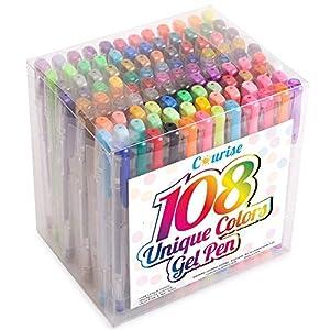 Courise - 108 Unique Colors Gel Pen Set