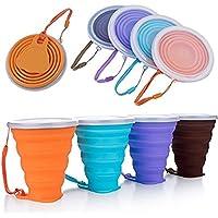Blizim 4 Piezas Copa Plegable Taza de Café Portátil Vaso para Viajes (9oz/240ml)