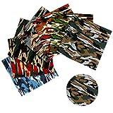 7 Stück 48 cm x 48 cm Camouflage Stoff Meterware