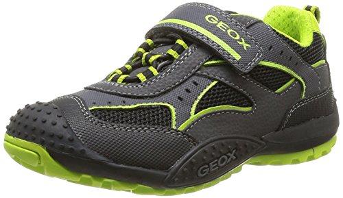 Geox J Marlon A, Jungen Sneaker Schwarz Noir (Black/Lime) 29