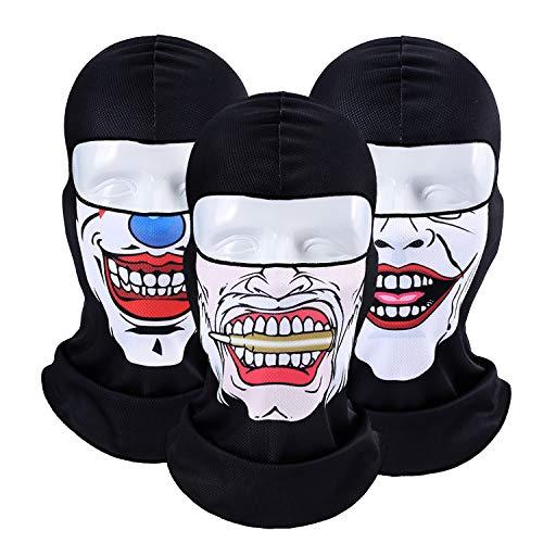 TAGVO Mascarilla Facial 3D Pasamontañas,Transpirable, Motocicleta, Ciclismo, Protección UV, Escudo Facial Pasamontañas para Deportes al Aire Libre, Fiesta de Halloween