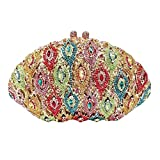 Fawziya Bling Peacock Purses And Handbags For Women' s Clutches-Green