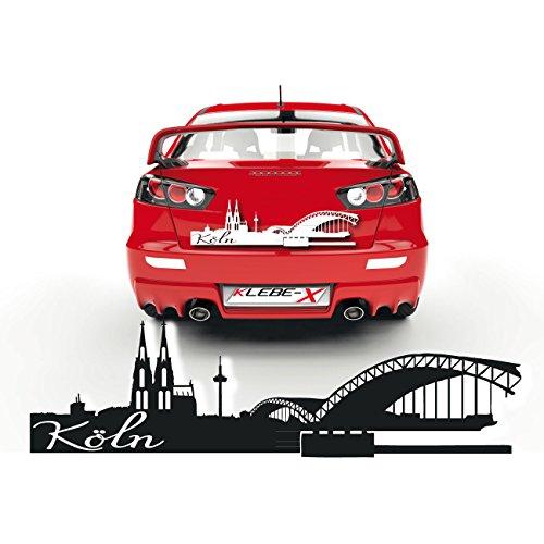 Kölner Dom Aufkleber für das Fahrzeug Sticker aus Folie zum Verkleben Cartattoo Köln |SKD021