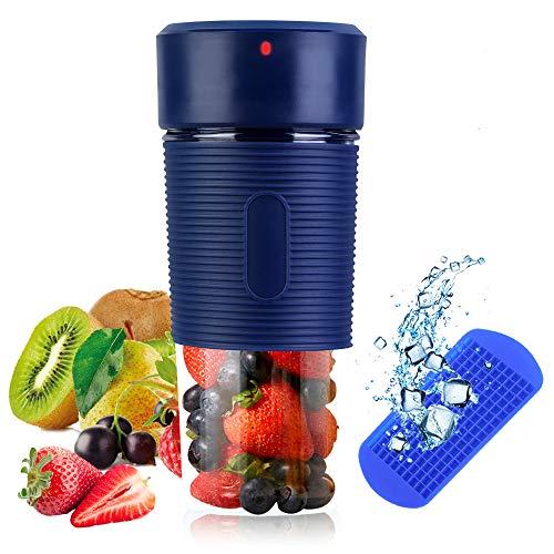 TIANG Licuadora portátil con USB Recargable/Mini batidora de Frutas con 350 ml de Vaso exprimidor sin BPA/Licuadora Personal con 1 Cuchilla para Jugo, batido y batido