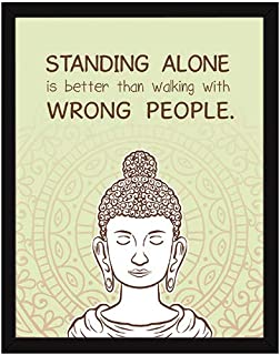 Chaka Chaundh – Compatible Buddha Quotes Frames – Buddha quotes poster with frame - Gautam Buddha frame with quotes for ho...