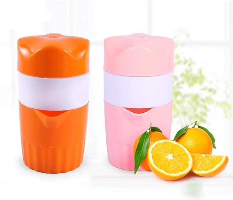 WPF ZJH Caliente 300ml portátil exprimidor de cítricos de Naranja limón Fruta exprimidor Original Potable Niño Exprimidor Batidora for el hogar (Color : Orange) Orange