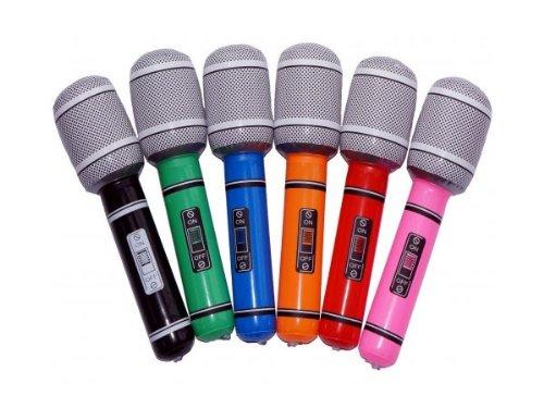 lot de 6 Microphones Gonflables 24 cm de très haute qualité Amusant et origninal, micros bien adapté aux adultes qu'aux enfants Cet accessoire sera idéal pour compléter un costume de chanteur et mettre de l'ambiance Vous vous sentez d'animer une soirée à la grandeur de votre micro