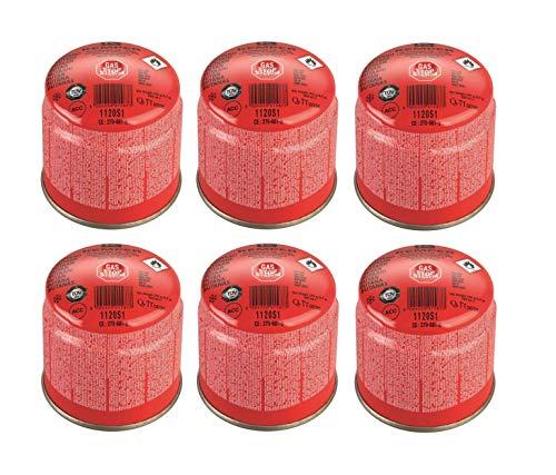 Kemper - Cartucho de cartuchos de gas de 190 g, art. 1120S1 - Con sistema de seguridad de membrana - Oferta para 6 bombonas