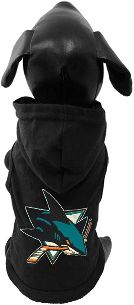 All Star Dogs NHL Unisex NHL San Jose Sharks Cotton Hooded Dog Shirt