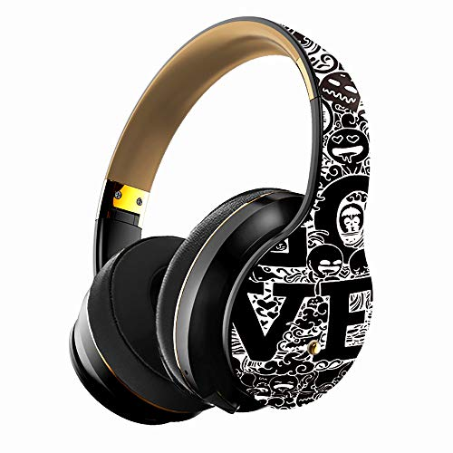 ZKUROZOXY B1 Headphones Bluetooth Headphones with Microphone Over Ear Deep Bass Wireless Headphones, Comfortable Protein Earpads, w/Built-in Mic Wired Mode PC Cell Phones TV (Gold)