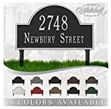 Personalized Cast Metal Address plaque - Lawn Mounted Arch Plaque. Display Your Address an...