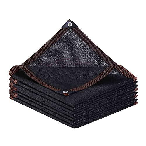 Lqqdp Malla sombreadora Bloqueador Solar Negro Pantalla de Tela, Tienda de Playa Sombra Net, for la Cubierta de la Planta/jardín del Invernadero Granero al Aire Libre del césped