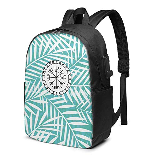 XCNGG Iceland Vegvisir Womans Man USB Backpack USB Backpack 17 in Stylish Laptop Backpack