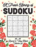 A Fresh Spring of Sudoku 16 x 16 Round 5: Very Hard Volume 20: Sudoku for Relaxation Spring Puzzle Game Book Japanese Logic Sixteen Numbers Math Cross ... All Ages Kids to Adults Floral Theme Gifts