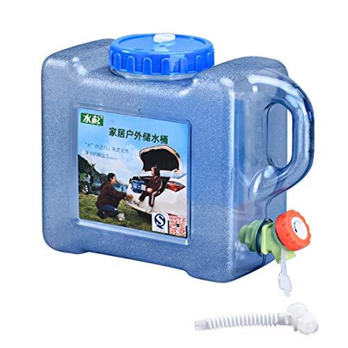 Jiaermei Cubo De Almacenamiento De Agua con Grifo Tour De Auto-conducción Al Aire Libre Almacenamiento De Agua En El Hogar De Agua 5L 12L