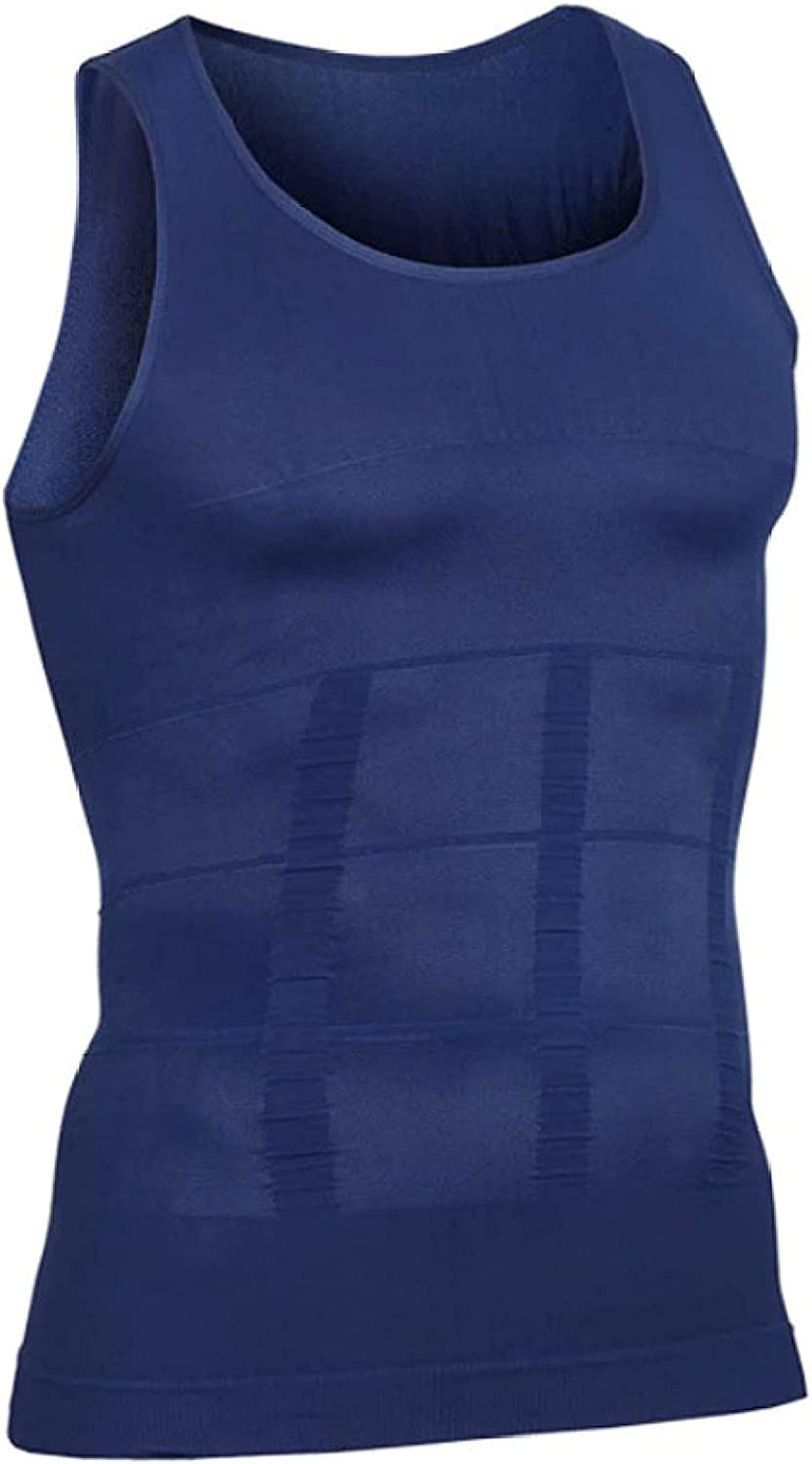 ChyJoey Seamless Shapewear Tank Top for Men Body Slimming - Breathable Compression Shirts Waist Trainer Underwear Sleeveless