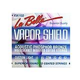 La Bella VSA1152 Vapor Shield Acoustic Guitar Strings, Custom Light 11-52