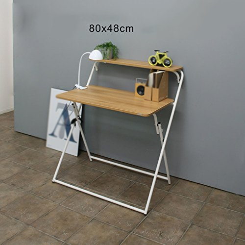 Desk XIAOLIN Folding Computer Schrijven Gebruik Voor Kinderen Student Verwijderbare Studie Kleine Werkbank Eenvoudige Ruimtebesparende Opvouwbare Computer, Draagbaar
