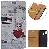 KM-WEN® Case for BQ Aquaris C (5.45 Inch) Book Style Heart