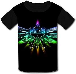 guoweiweiB Camisetas de Manga Corta para niño, Le-gend of Zel-da Rainbow Logo Youth Fashion Raglan T-Shirt Tees Kids Graph...