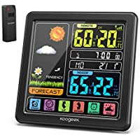 Koogeek Weather Station Wireless Indoor Outdoor Thermometer