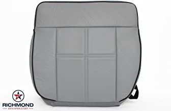 Richmond Auto Upholstery 2006 2007 2008 Lincoln Mark LT - Driver Side Bottom Leather Seat Cover, Gray