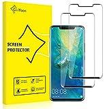 GiiYoon-2 Piezas Protector Pantalla para Huawei Mate 20 Pro Cristal Templado,[Sin Burbujas] [Alta Definicion] [9H Dureza] [Cobertura completa]Vidrio Templado