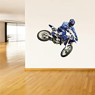 Full Color Wall Decal Mural Sticker Decor Art Poster Gift Dirty Bike Motocross Motocycle Dirt Moto (Col355)