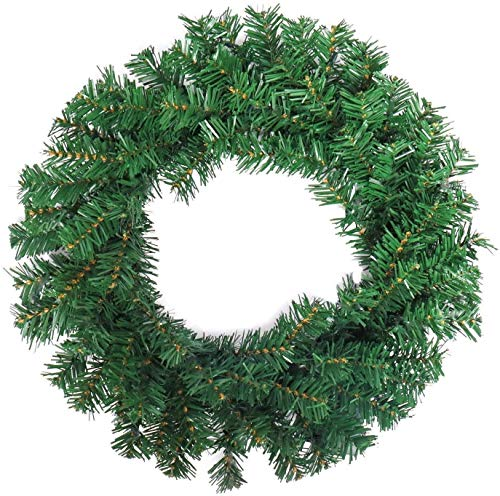 Daliuing Christmas encrypted Vine Circle Naked Garland 50cm Garland Vine Plant Flower Leaves Perfect for Wall Decoration, Wedding, Bridal,Christmas