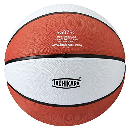 Save %6 Now! Tachikara Colored Regulation Size BasketBall, Orange-White