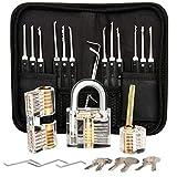 Kit de crochetage professionnel, 26 kits de signature de mot de passe avec 3 kits transparents de crochetage de cadenas