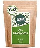 Erbsenprotein-Pulver Bio 1kg - 83% Proteingehalt - 100% Erbsen-Proteinisolat - Höchste Bioqualität - Frei von Gluten, Soja und Laktose - Abgefüllt und kontrolliert in Deutschland (DE-ÖKO-005)