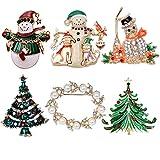 Elegant Rose 6 bunten Weihnachten Brosche Xmas Geschenk für Weihnachtsschmuck Ornaments Geschenke