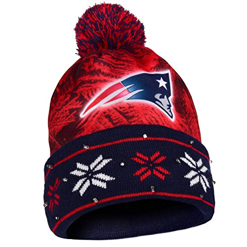 Forever Collectibles NFL New England Patriots Light Up Knit Hat
