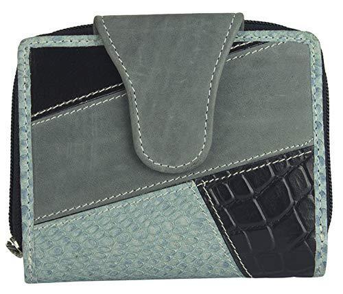 Sunsa Geldbörse für Damen Kleiner Leder Geldbeutel Portemonnaie mit RFID Schutz Brieftasche mit viele Kreditkarten Fächer Geldtasche Wallet Purses for Women das Beste Gift kleine Geschenk 81706