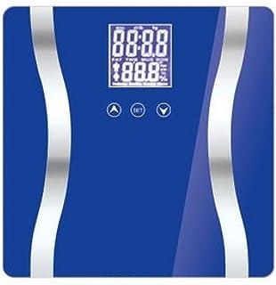 WYBD.Y Peso electrónico Báscula de baño Básculas Inteligentes para el hogar Báscula de Peso Corporal Báscula de Grasa Tasa de Grasa Contenido de Humedad Muscular Masa ósea, Azul, púrpura