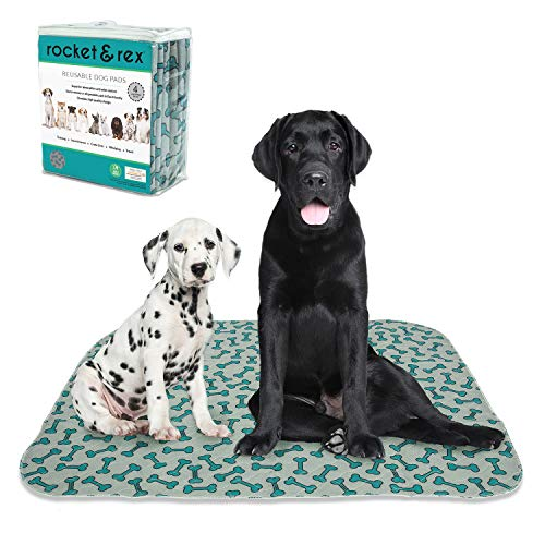rocket & rex Washable Dog Pee Pads. Dog Training Pads, Waterproof, Reusable Dog Pee Pads....