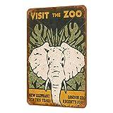 Zoo Vintage, Estilo Shabby Chic, Cartel de Revista, decoración de Pared, 8 x 12 Pulgadas