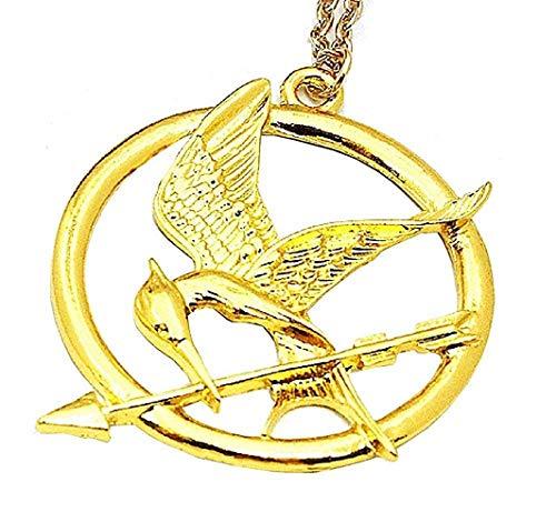 Legisdream Collana con Ciondolo dalla Serie La di Fuoco Oro Hunger Games Mockingjay Oro Gioiello Idea Regalo Festa Unisex Amore Amicizia