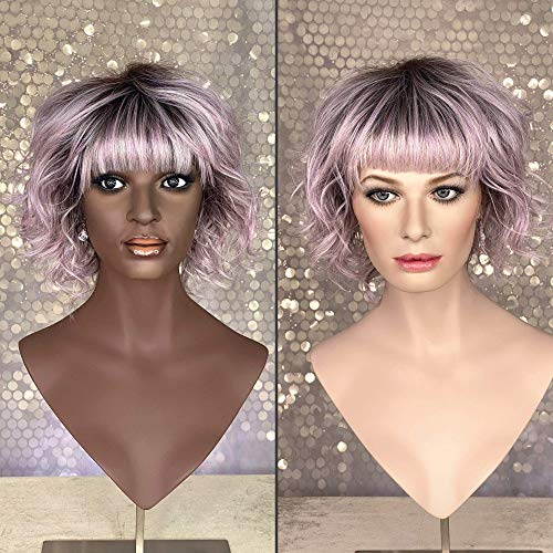 Cysterwigs FELIX Limited Collection - Cute and Comfortable Fashion Wig - Silky Heat-friendly Synthetic Hair - Moonlit Orchid Rooted