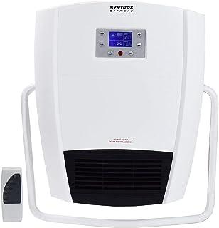 Syntrox Germany - Calefactor digital para l baño (mando a distancia, colgador de toalla)