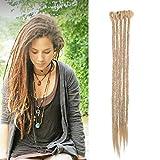 Extensión Dreadlock Extensión sintética para el cabello Rasta para trenzas largas Trenzas Trenzas para el cabello Fibras 50cm para Mujer Hombre, Paquete de 5, Rubio ceniza